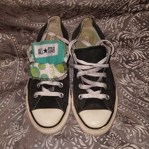 Women's size 6 double tongue Converse Chuck Taylor
